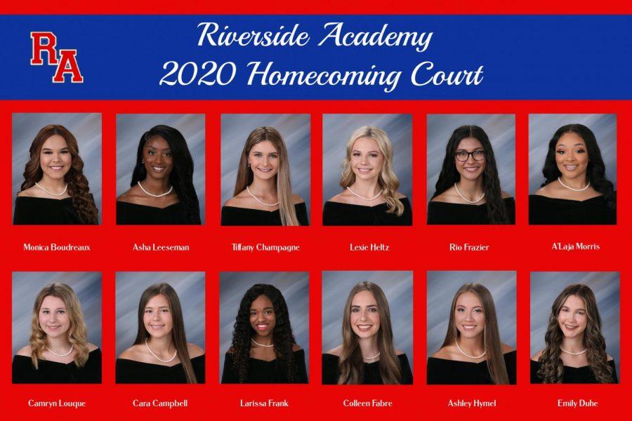 2020 Homecoming Court maids