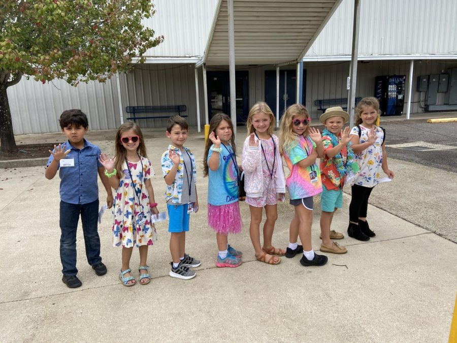 Elementary students got in the dress up spirit as well.