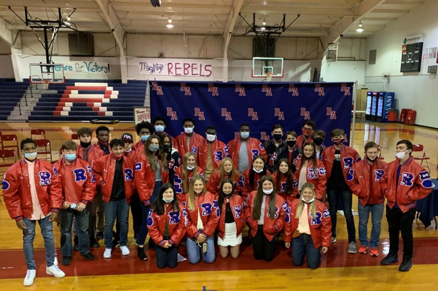 Athletes and band members received their letterman jackets Wednesday night.